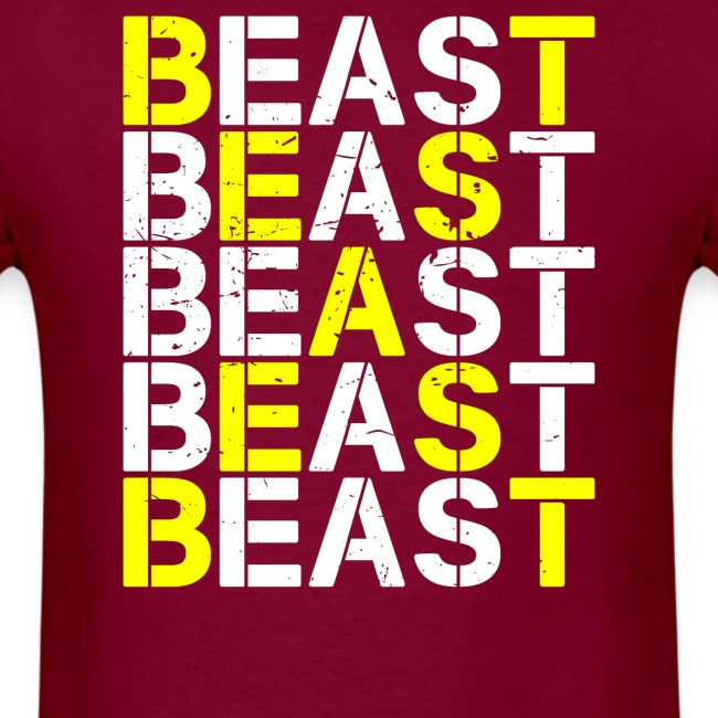 All Beast Bold distressed logo
