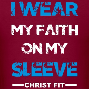 I wear my faith blue n white - Men's T-Shirt
