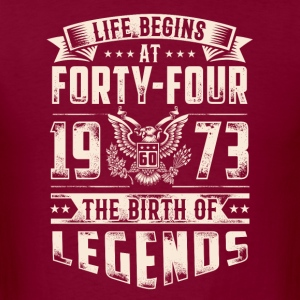 Life Begins At Forty Four Tshirt - Men's T-Shirt