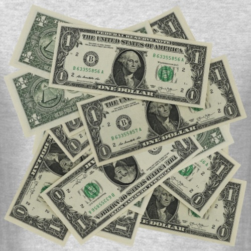 Pile Of Money - Men's T-Shirt