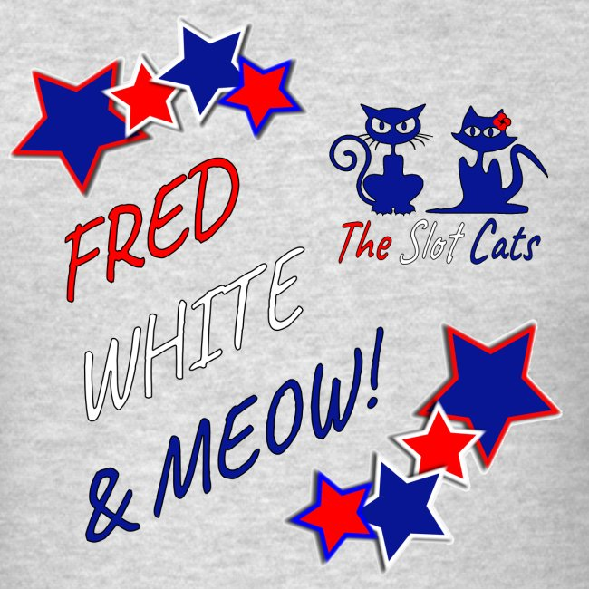 FRED WHITE BLUE SLOTCATS