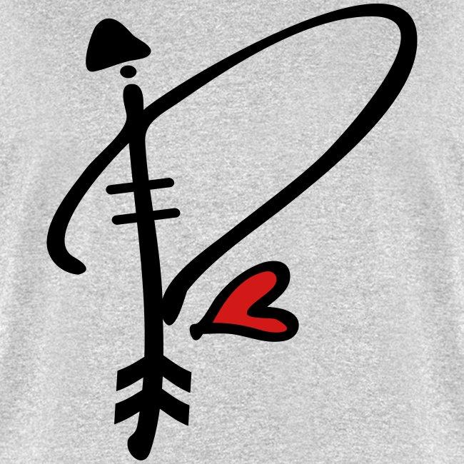 P Letter Images.Letter P With Arrow Heart Men S T Shirt