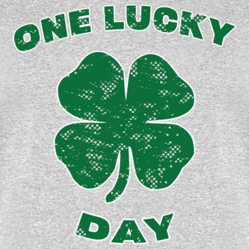 Lucky Day St Patrick Kids Green Clover Irish Gift. - Men's T-Shirt