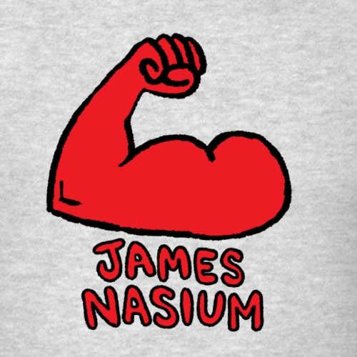 JAMES NASIUM LOGO - Men's T-Shirt