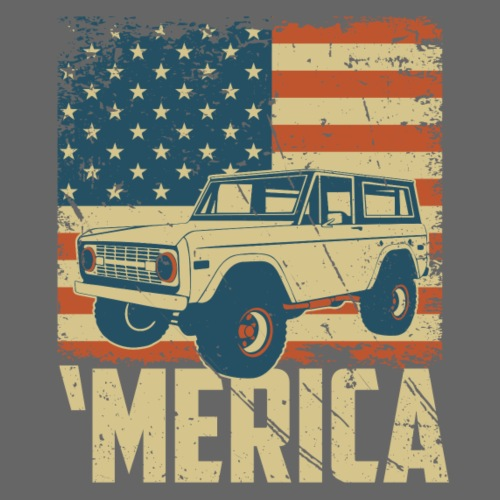 Bronco Truck 'merica Classic Off-Road T-shirt - Men's T-Shirt