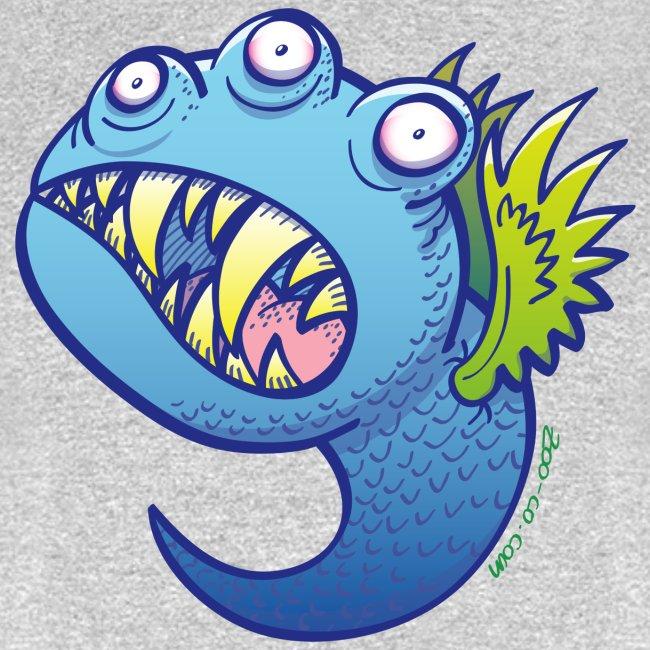 Winged little blue monster