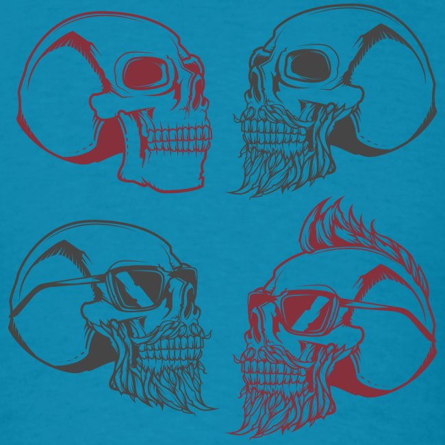 4 skulls