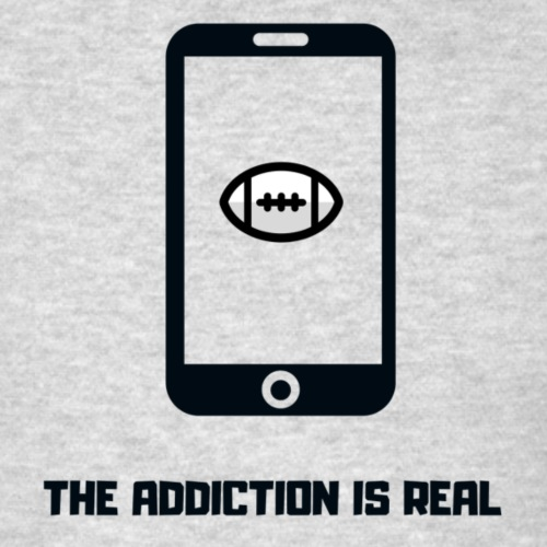 THE ADDICTION IS REAL (Black) - Men's T-Shirt