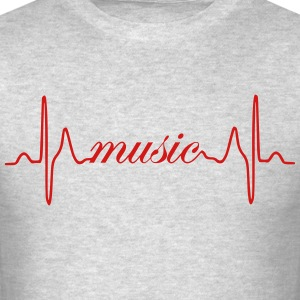 Music ECG heartbeat - Men's T-Shirt