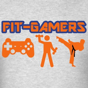 FIT-GAMERS Logo w/ Icons - Men's T-Shirt
