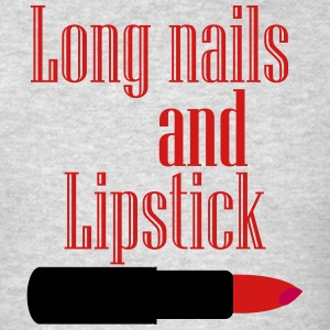 Long nails and Lipstick - Men's T-Shirt