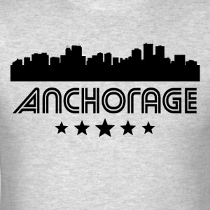 Retro Anchorage Skyline - Men's T-Shirt