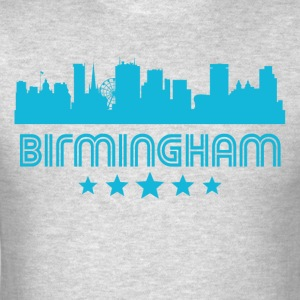 Retro Birmingham Skyline - Men's T-Shirt