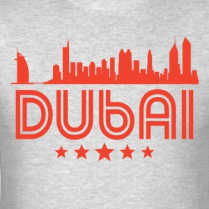 Retro Dubai Skyline - Men's T-Shirt
