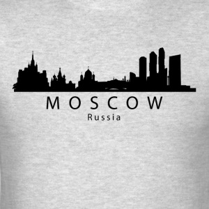 Moscow Russia Skyline - Men's T-Shirt