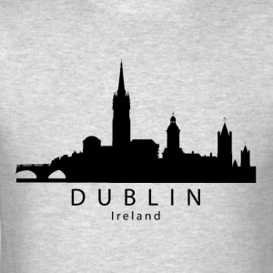 Dublin Ireland Skyline - Men's T-Shirt