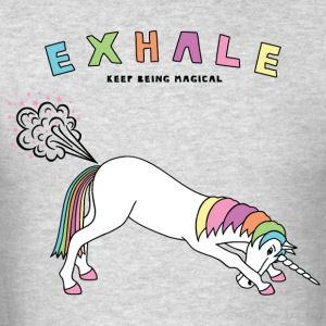 Down Dog Unicorn Exhale Outline - Men's T-Shirt