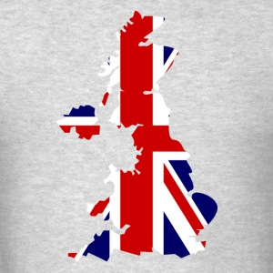 British Flag Map United Kingdom Symbol - Men's T-Shirt