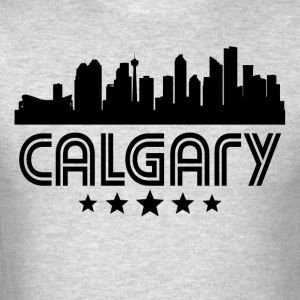 Retro Calgary Skyline - Men's T-Shirt