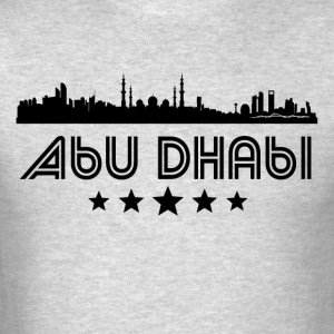 Retro Abu Dhabi Skyline - Men's T-Shirt