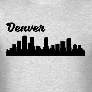 Denver CO Skyline - Men's T-Shirt