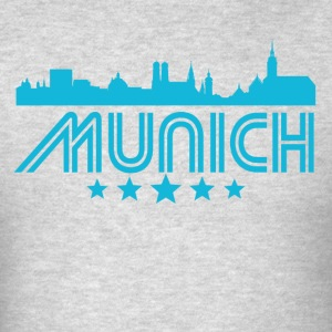 Retro Munich Skyline - Men's T-Shirt