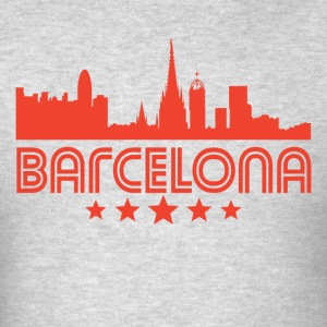 Retro Barcelona Skyline - Men's T-Shirt