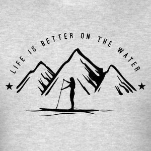 SUPGIRL - Life is better on the water *dark* - Men's T-Shirt