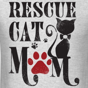 Rescue Cat Mom T Shirt - Men's T-Shirt