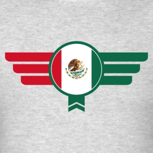 Mexico Badge Emblem Flag - Men's T-Shirt