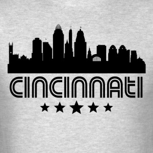 Retro Cincinnati Skyline - Men's T-Shirt