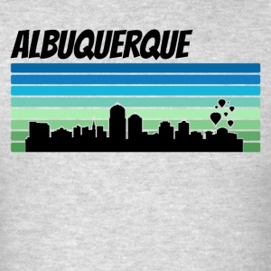 Retro Albuquerque Skyline - Men's T-Shirt