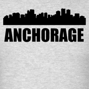 Anchorage AK Skyline - Men's T-Shirt