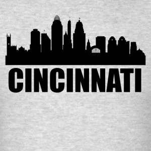 Cincinnati OH Skyline - Men's T-Shirt