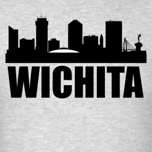 Wichita KS Skyline - Men's T-Shirt