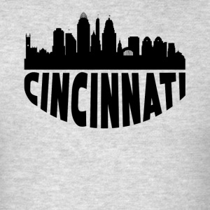 Cincinnati OH Cityscape Skyline - Men's T-Shirt