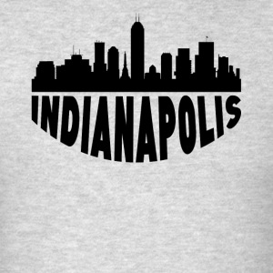 Indianapolis IN Cityscape Skyline - Men's T-Shirt