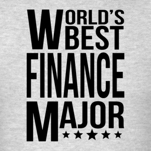 World's Best Finance Major - Men's T-Shirt