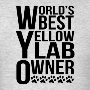 World's Best Yellow Lab Owner - Men's T-Shirt
