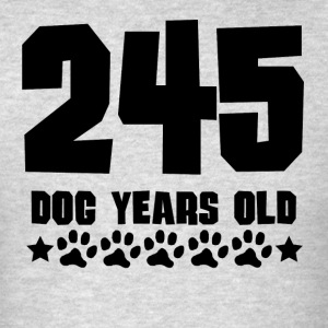 245 Dog Years Old Funny 35th Birthday - Men's T-Shirt
