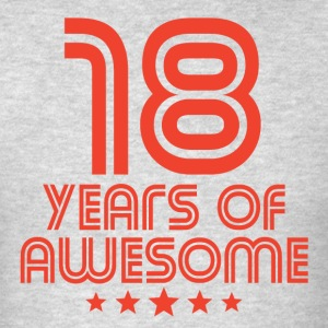 18 Years Of Awesome 18th Birthday - Men's T-Shirt