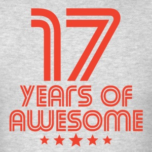 17 Years Of Awesome 17th Birthday - Men's T-Shirt