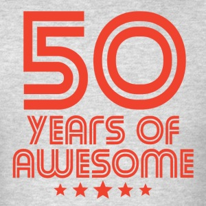 50 Years Of Awesome 50th Birthday - Men's T-Shirt