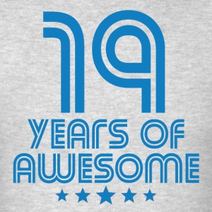 19 Years Of Awesome 19th Birthday - Men's T-Shirt