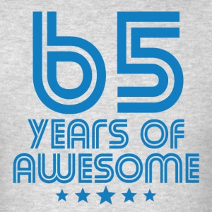 65 Years Of Awesome 65th Birthday - Men's T-Shirt