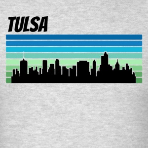 Retro Tulsa Skyline - Men's T-Shirt
