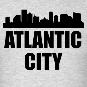 Atlantic City NJ Skyline - Men's T-Shirt