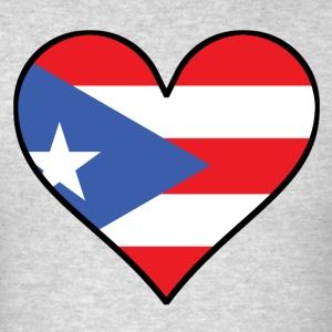 Puerto Rican Flag Heart - Men's T-Shirt