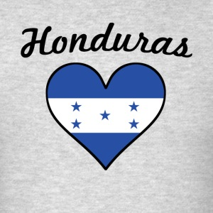 Honduras Flag Heart - Men's T-Shirt