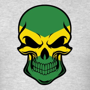 Jamaican Flag Skull - Men's T-Shirt